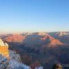 【グランドサークル】絶景!冬のグランドキャニオン・サウスリム。夕日&朝日を見るにはホテルに一泊がおすすめ。